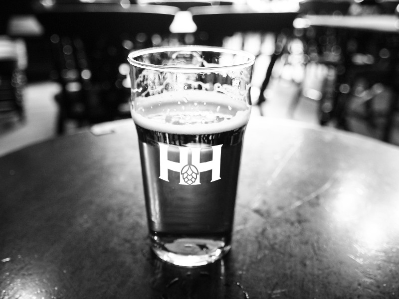 HHimprinted-pint-glass-on-table-BW